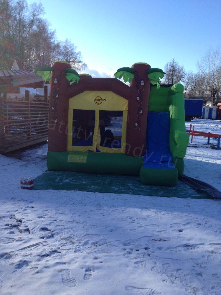 Батут Джунгли на снегу